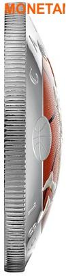 Канада 25 долларов 2016.Баскетбол – 125-лет изобретения баскетбола (выпуклая форма).Арт.60 (фото, вид 2)