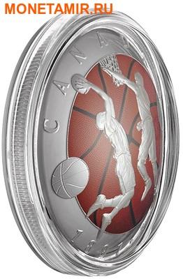 Канада 25 долларов 2016.Баскетбол – 125-лет изобретения баскетбола (выпуклая форма).Арт.60 (фото, вид 3)