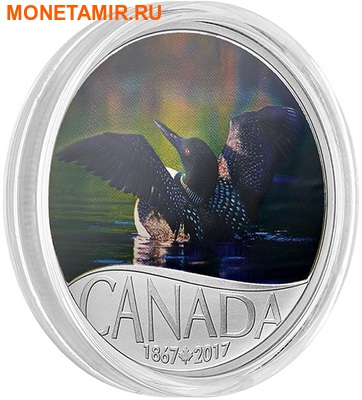 Канада 10 долларов 2017.Гагара – 150 лет Празднования Канады.Арт.60 (фото, вид 1)
