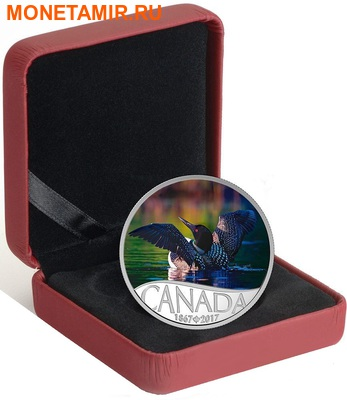 Канада 10 долларов 2017.Гагара – 150 лет Празднования Канады.Арт.60 (фото, вид 3)