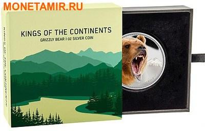 Ниуэ 2 доллара 2016.Медведь Гризли серия Короли Континентов.Арт.60 (фото, вид 2)