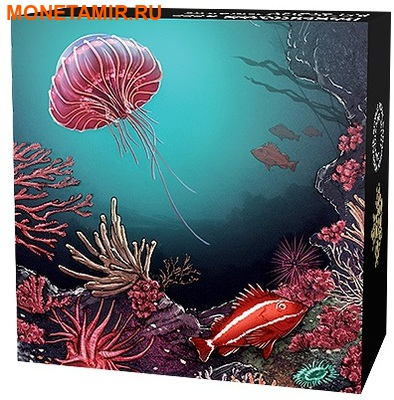 Канада 30 долларов 2016.Коралловый риф – Подводный мир – Рыбы (Ультрафиолет).Арт.60 (фото, вид 4)
