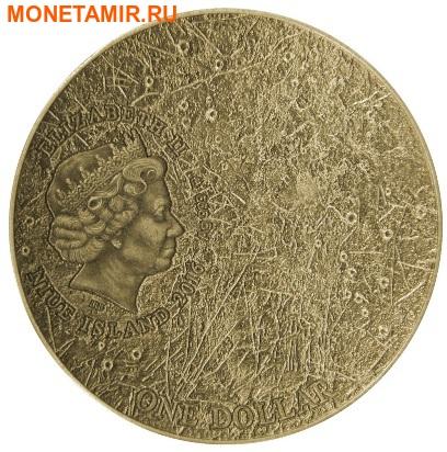 Ниуэ 1 доллар 2016.Метеорит Меркурий II.Солнечная система NWA 7325/8409.Арт.60 (фото, вид 2)