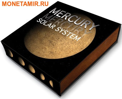 Ниуэ 1 доллар 2016.Метеорит Меркурий II.Солнечная система NWA 7325/8409.Арт.60 (фото, вид 3)