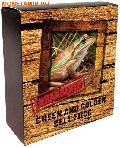 Тувалу 1 доллар 2017 Зелено-Золотистая Лягушка (Green and Golden Bell Frog) – Исчезающие виды.Арт.60 (фото, вид 3)