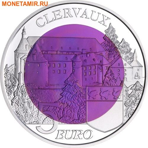 Люксембург 5 евро 2016 Замок Клевро Замки Люксембурга Ниобий (Luxemburg 5 Euro 2016 Castle Clervaux Niob).Арт.000557852877/60 (фото, вид 1)