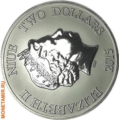 Ниуэ 2 доллара 2015.Черепаха (Black Rhodium).Арт.000408551204/60 (фото, вид 1)