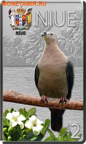 Ниуэ Фиджи Острова Питкэрн 3х2 доллара 2013.Голубь (Pacific Pigeon) Попугай (Collard Lory) Голубь (Henderson Island Fruit Dove) - Птицы Тихоокеанских островов.Арт.000813246446/60 (фото, вид 1)