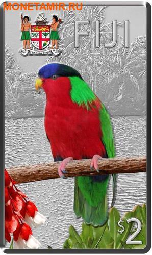 Ниуэ Фиджи Острова Питкэрн 3х2 доллара 2013.Голубь (Pacific Pigeon) Попугай (Collard Lory) Голубь (Henderson Island Fruit Dove) - Птицы Тихоокеанских островов.Арт.000813246446/60 (фото, вид 2)