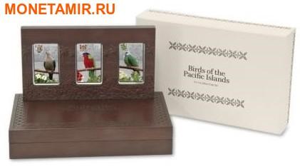 Ниуэ Фиджи Острова Питкэрн 3х2 доллара 2013.Голубь (Pacific Pigeon) Попугай (Collard Lory) Голубь (Henderson Island Fruit Dove) - Птицы Тихоокеанских островов.Арт.000813246446/60 (фото, вид 7)