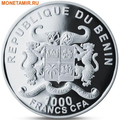 Бенин 1000 франков 2016.Слон с детенышем серия Охрана природы.Арт.60 (фото, вид 1)