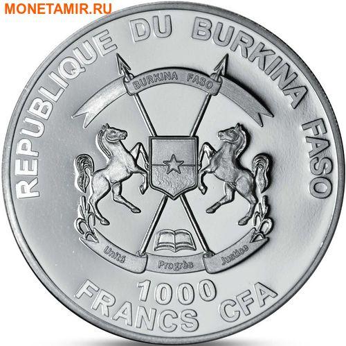 Буркина Фасо 1000 франков 2016.Олень.Арт.60 (фото, вид 1)