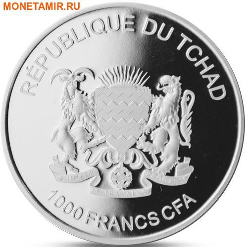 Чад 1000 франков 2015.Бегемот с детенышем.Арт.60 (фото, вид 1)