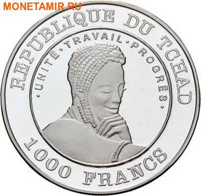Чад 1000 франков 2002.Бегемот с детенышем.Арт.60 (фото, вид 1)