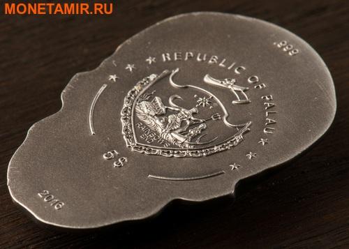 Палау 5 долларов 2016 Череп (Palau 5$ 2016 Skull 1 oz Silver Coin).Арт.60 (фото, вид 3)