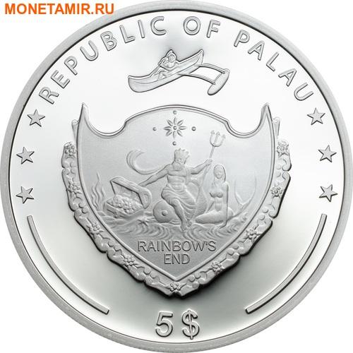 Палау 5 долларов 2017 Клевер – Унция удачи (Palau 5$ 2017 Ounce of Luck 4-leaf clover).Арт.60 (фото, вид 1)