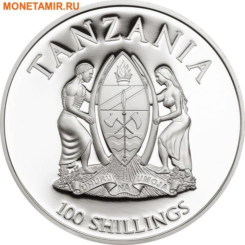 Танзания 100 шиллингов 2016.Зеленая морская черепаха - WWF.Арт.60 (фото, вид 1)