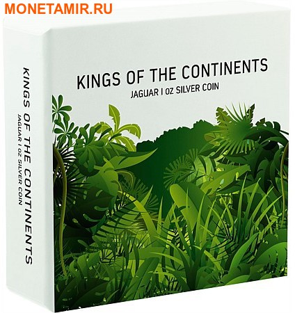 Ниуэ 2 доллара 2016.Ягуар серия Короли Континентов.Арт.60 (фото, вид 3)