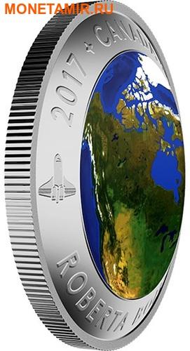 Канада 25 долларов 2016.Канада из Космоса (Выпуклая форма).Арт.60 (фото, вид 1)