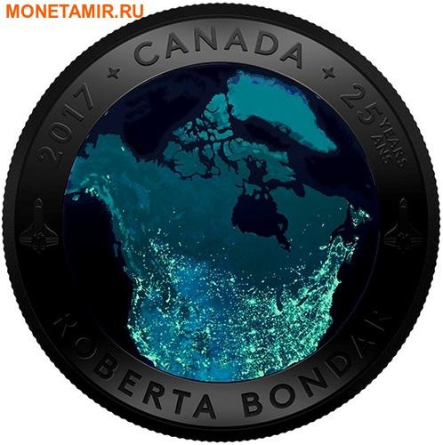 Канада 25 долларов 2016.Канада из Космоса (Выпуклая форма).Арт.60 (фото, вид 2)