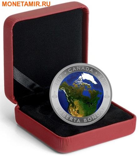 Канада 25 долларов 2016.Канада из Космоса (Выпуклая форма).Арт.60 (фото, вид 4)