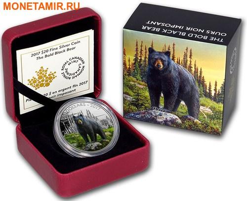 Канада 20 долларов 2017.Медведь серия Величественные животные.Арт.60 (фото, вид 2)