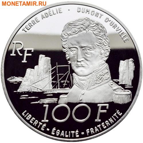 Франция 100 франков 1992.Пингвины – Французские Антарктические Территории.Арт.60 (фото, вид 1)