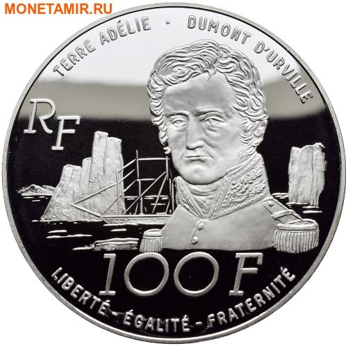 Франция 100 франков 1992.Тюлени – Французские Антарктические Территории.Арт.60 (фото, вид 1)