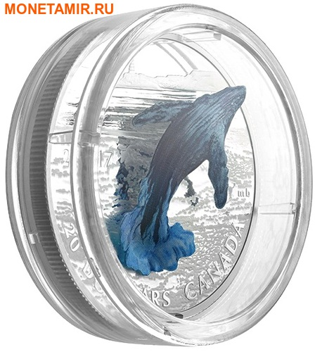 Канада 20 долларов 2017 Кит 3D Маяк (Canada 20C$ 2017 Whale 3D Lighthouse).Арт.000516254468/60 (фото, вид 2)
