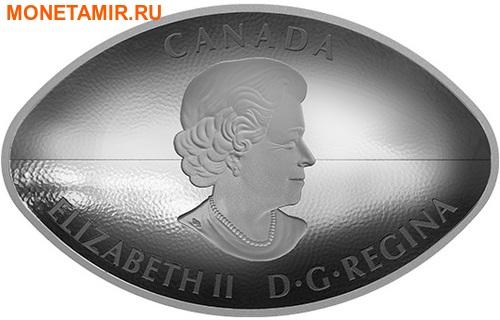 Канада 25 долларов 2017.Канадский футбол – Мяч (Выпуклая форма).Арт.60 (фото, вид 2)