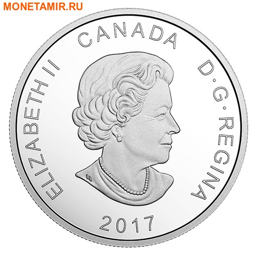 Канада 20 долларов 2017 Полярный медведь – Сияющий север (Canada 20$ 2017 Glistening North The Polar Bear).Арт.000529352988/60 (фото, вид 2)