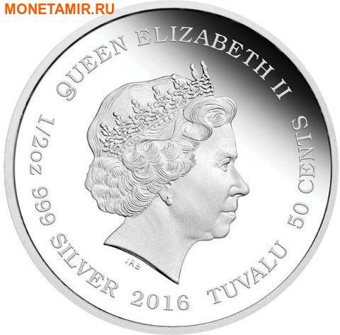 Тувалу 50 центов 2016.Рысь серия Детеныши.Арт.60 (фото, вид 1)