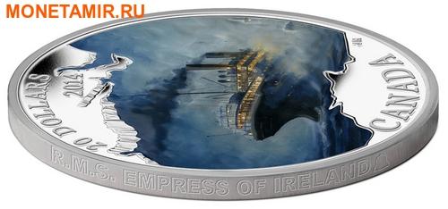 Канада 20 долларов 2014.Лайнер Императрица Ирландии серия Потерянные корабли в канадских водах (корабль).Арт.60 (фото, вид 1)