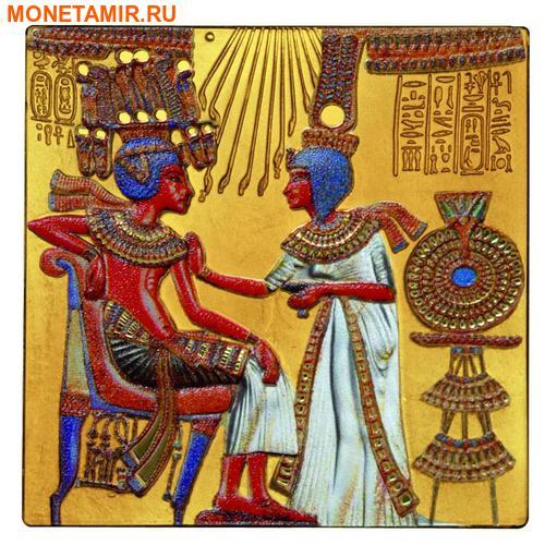 Острова Кука 20 + 25 долларов 2015.Золотой трон Тутанхамона – Шедевры мирового исскуства.Арт.60 (фото, вид 3)