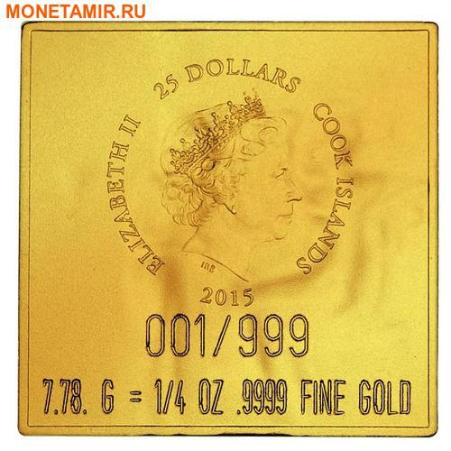 Острова Кука 20 + 25 долларов 2015.Золотой трон Тутанхамона – Шедевры мирового исскуства.Арт.60 (фото, вид 4)