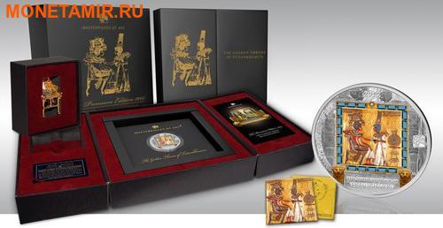 Острова Кука 20 + 25 долларов 2015.Золотой трон Тутанхамона – Шедевры мирового исскуства.Арт.60 (фото, вид 5)