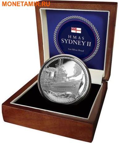 Ниуэ 1 доллар 2016.Корабль Сидней (HMAS Sydney).Арт.60 (фото, вид 2)
