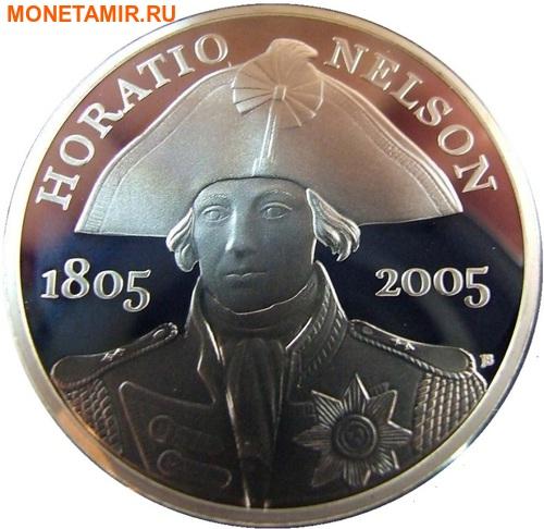 Великобритания 2х5 фунтов 2005.Адмирал Нельсон – Трафальгарское сражение.Арт.60 (фото, вид 1)