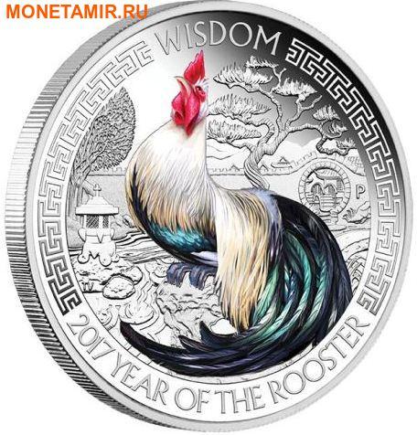 Тувалу 2х1 доллар 2017.Год Петуха – Лунный календарь на удачу – Богатство и Мудрость.Арт.60 (фото, вид 2)