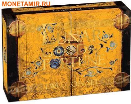 Тувалу 2х1 доллар 2017.Год Петуха – Лунный календарь на удачу – Богатство и Мудрость.Арт.60 (фото, вид 5)