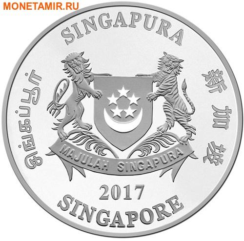 Сингапур 2 доллара 2017.Год Петуха – Лунный календарь.Арт.60 (фото, вид 1)