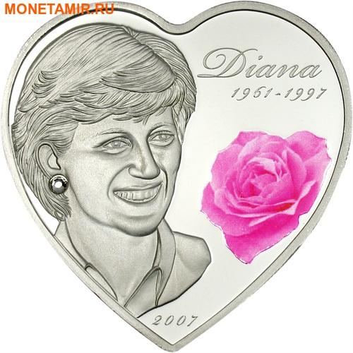 Острова Кука 5 долларов 2007.Диана - Принцесса Уэльская (1961 - 1997).Арт.60 (фото, вид 1)