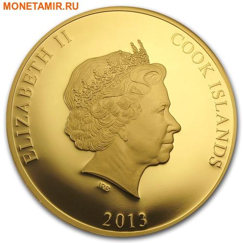 Острова Кука 1000 долларов 2013 Дирижабль Цеппелин Перламутр (Cook Isl 1000$ 2013 Rigid Airship The Zeppelin Mother of Pearl 5Oz Gold Coin Proof).Арт.60 (фото, вид 1)