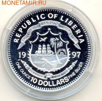 Либерия 10 долларов 1997.Битва за Британию.Вторая Мировая Война.Арт.000138641517/60 (фото, вид 1)
