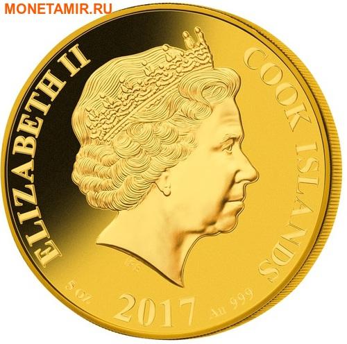 Острова Кука 200 долларов 2017 Велосипед 200 лет Перламутр (Cook Isl 2017 200$ The Bicycle Mother of Pearl 5Oz Gold Coin Proof).Арт.65 (фото, вид 1)