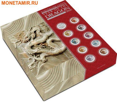 Австралия 10х1 доллар 2012.Год Дракона – Лунный календарь.Арт.60 (фото, вид 9)