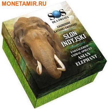 Ниуэ 1 доллар 2016.Азиатский Слон серия Вымирающие виды животных.Арт.60 (фото, вид 3)