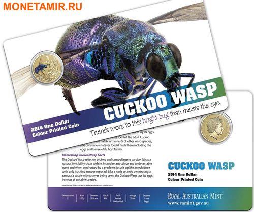 Австралия 1 доллар 2014.Оса – Яркие жуки (Блистер).Арт.000086253568/60 (фото, вид 2)