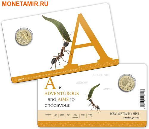 Австралия 1 доллар 2017.Алфавит – A – Муравей (Блистер).Арт.000086253541/60 (фото, вид 2)