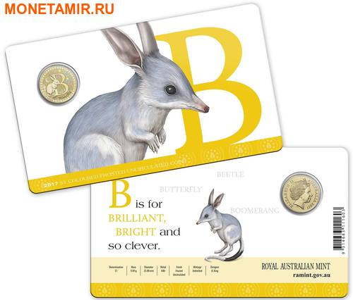 Австралия 1 доллар 2017.Алфавит – B – Билби (Блистер).Арт.000086253542/60 (фото, вид 2)
